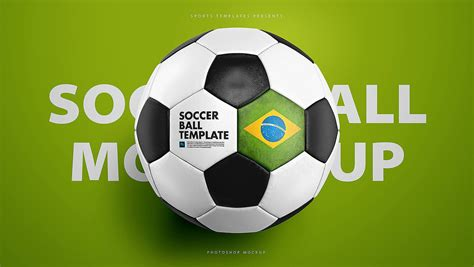 Soccer Ball Football Psd Mockup Template On Behance Football Template Psd