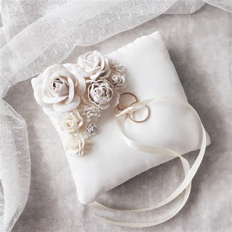 Wedding Rings Pillow by Ring Holder Ring Bearer Pillow Wedding Ring Box Shabby
