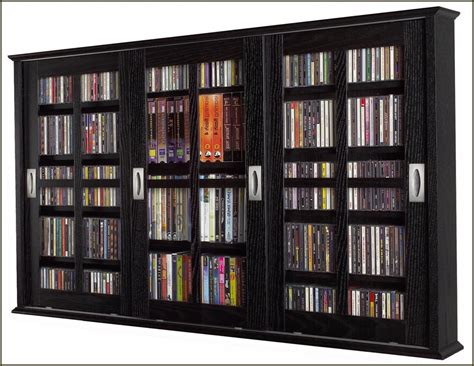 Refacing Traditional Interior With Free Standing Dvd Media Storage Cabinet With Glass Doors
