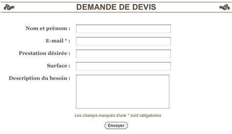 Demande De Devis Exemple 3258 by Personnaliser Le Formulaire De Contact En Formulaire De