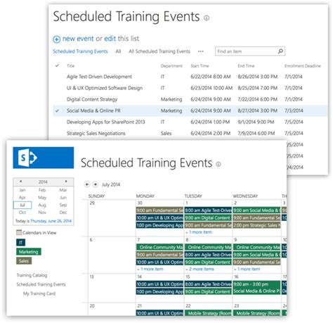 sharepoint employee training management template