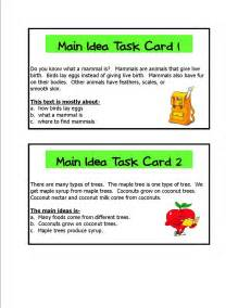 main idea worksheets 2nd grade main idea passages 4th