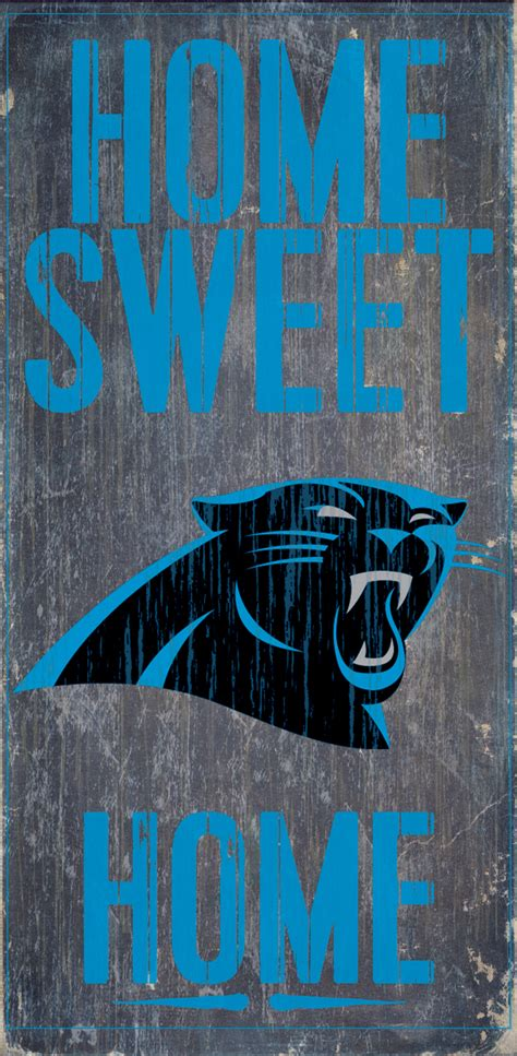 carolina panthers home sweet home wood sign