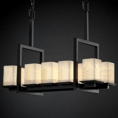 Square Chandelier Shades Antique Marble Square Shades Chandelier 10382 Browse Project Lighting And Modern Lighting