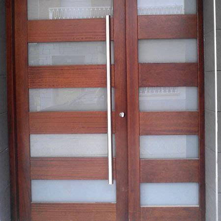 atractiva  madera de pino para exterior #1: puerta-combinada-madera-vidrio.jpg