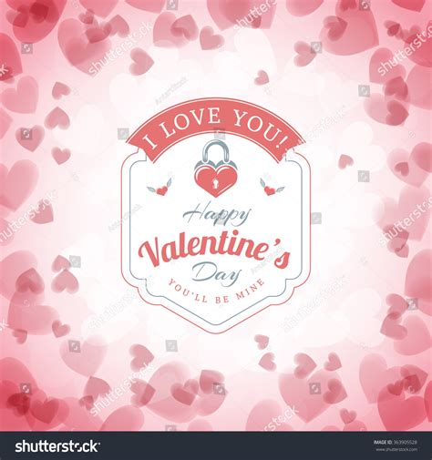 happy s day light up card template happy valentines day typographical badge valentines stock
