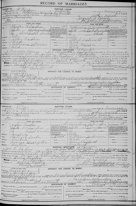 County New York Marriage Records Descendants Of Artaban Hoyt Lines