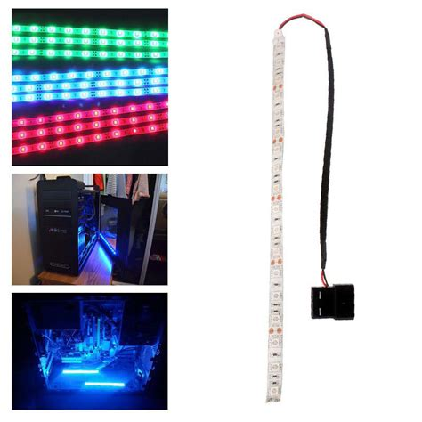 Computer Led Light Strips Blue Green 60cm 5050smd Led Pc Computer Light Self Adhesive In Led Strips From