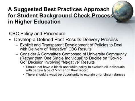 Student Background Check Issues In Student Background Checks April 11 2011