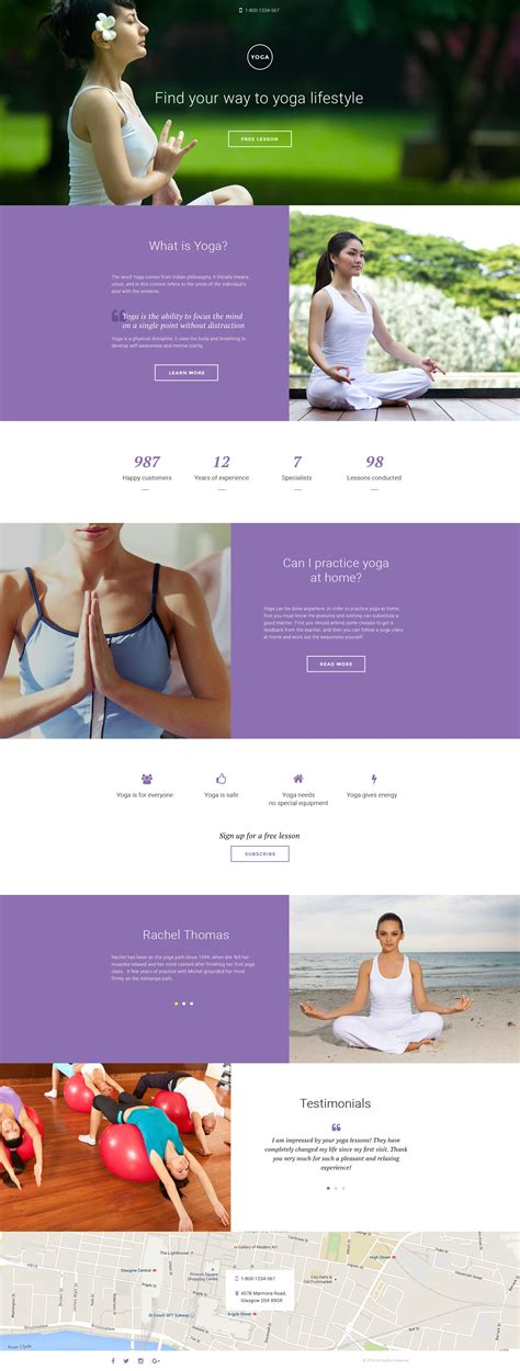 responsive website templates for yoga yoga responsive landing page template 58334