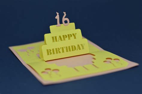 Birthday Cake Popup Card Template by Detailed Birthday Cake Pop Up Card Template