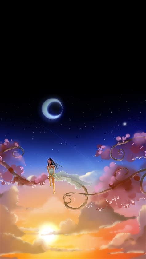 wallpaper animado anime android anime girl dream moon android wallpapers free download