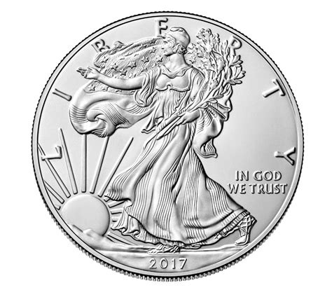 1 Ounce Silver Eagle Coins by American Eagle 2017 One Ounce Silver Uncirculated Coin