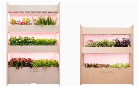 grow your very own smart garden with click grow nasa inspired indoor garden uses quot smart soil quot to grow your