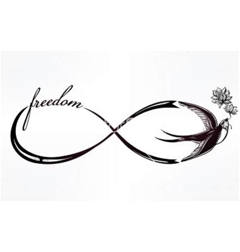 infinity tattoo vector infinity symbol with swallow vector ink ideas