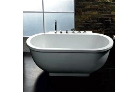 ariel ariel am128 free standing 6 ft jetted whirlpool bath tub