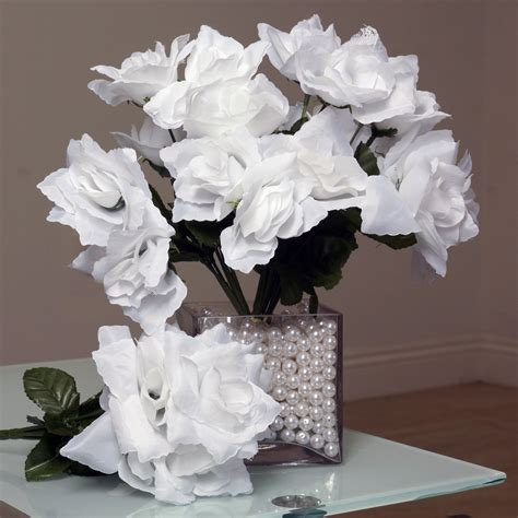 252 silk open roses wedding flowers bouquets wholesale supply centerpieces sale ebay