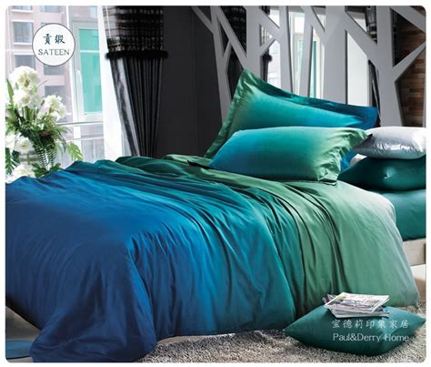 blue bed linen duvet sets aliexpress buy blue green gradient bedding sets