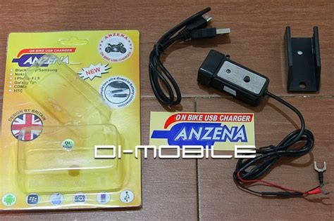 Usb Charger Untuk Motor charger motor usb anzena black di mobile indonesia