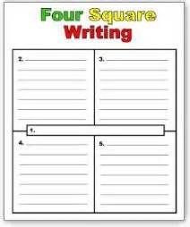four square writing method template four square writing method on four square
