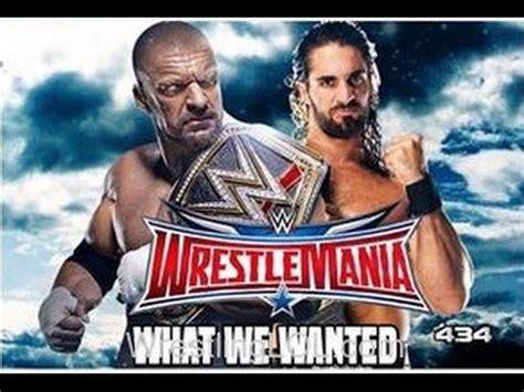 Wrestlemania Meme - triple h vs seth rollins at wrestlemania 32 memes