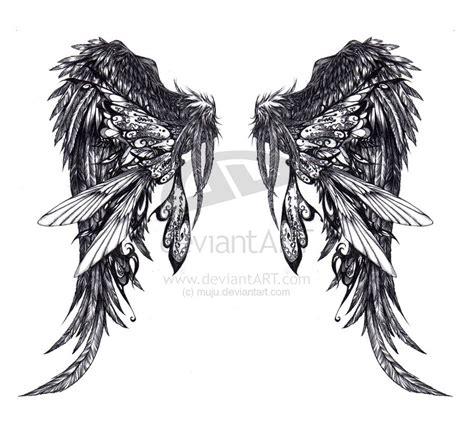 Wings 3 By Muju On Deviantart Wing Tattoos Designs