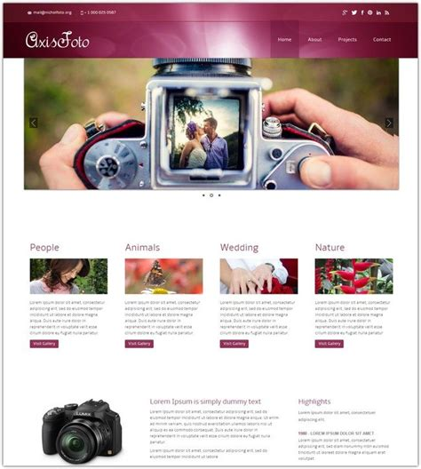 mobile website gallery 32 best photography html website templates web