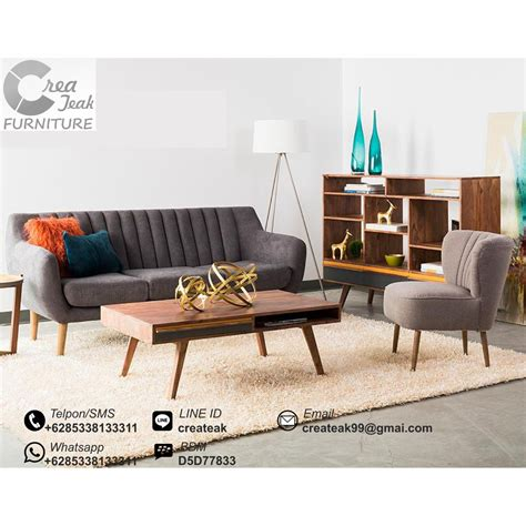Set Sofa Tamu Retro 31meja Kursi Tamu Minimalis Sofa Malas Stool set sofa tamu retro minimalis verona createak furniture