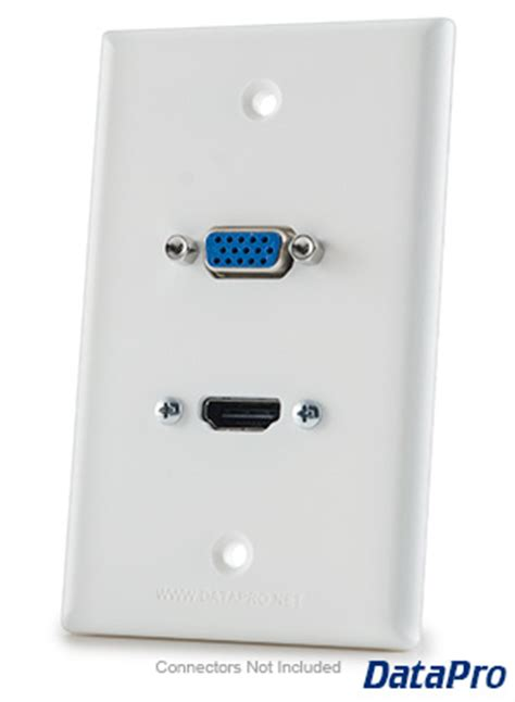 Vga Outlet Hdmi Outlet hdmi and vga wall plate datapro
