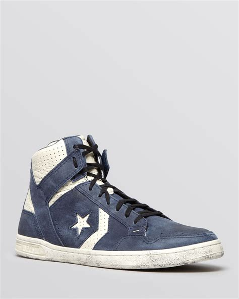 converse by varvatos weapon high top sneakers in blue for lyst