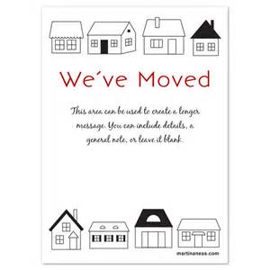 We Ve Moved Template by We Moved Card With Houses Invitations Cards On