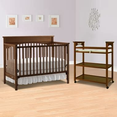 Graco Convertible Crib With Changing Table Graco Cribs 2 Nursery Sets Crib Dressing Table Set Walnut Free Shipping