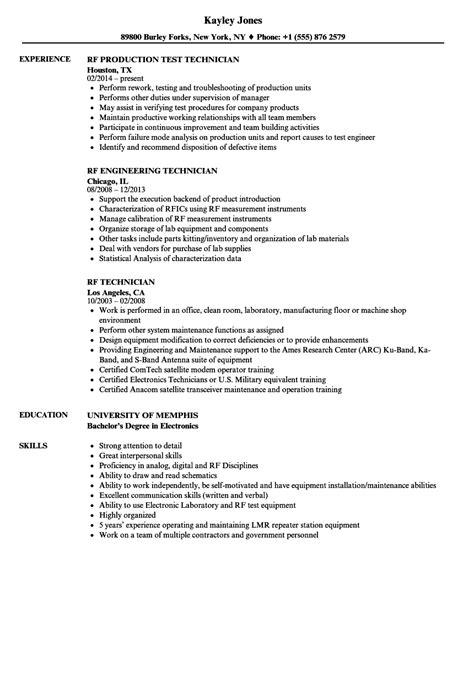 Rf Engineer Resume Format