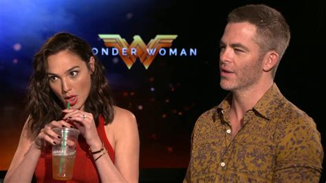 wonder actor interview gal gadot chris pine interview wonder woman youtube