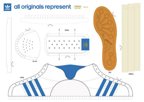 Adidas Shoe Template free paper crafts templates for shoes