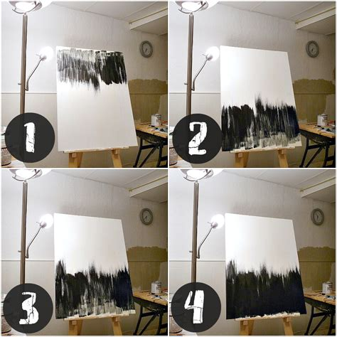 black and white painting ideas simple but striking black white diy abstract painting