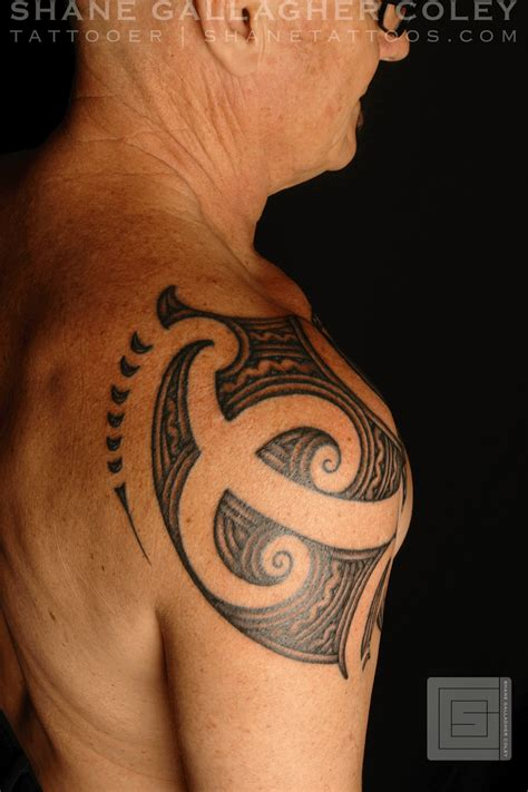 chest to shoulder tattoo shane tattoos maori shoulder chest ta moko