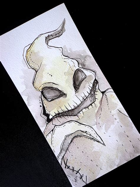 nightmare before christmas oogie boogie original illustration