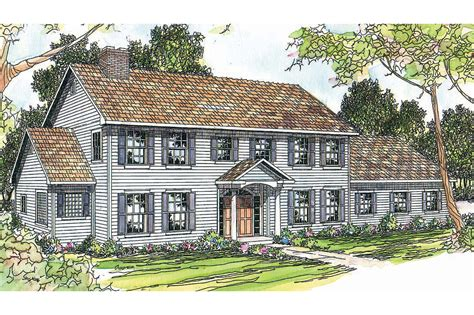Small Farmhouse Plans Wrap Around Porch by Colonial House Plans Kearney 30 062 Associated Designs