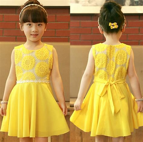 Dress Anak Yellow fashion 2014 new summer korean chiffon princess