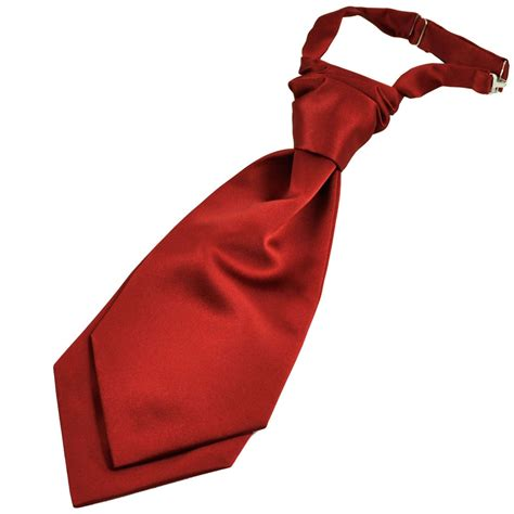 plain wine boys scrunchie wedding cravat from ties