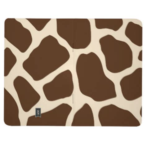 giraffe design journal animal print journals zazzle