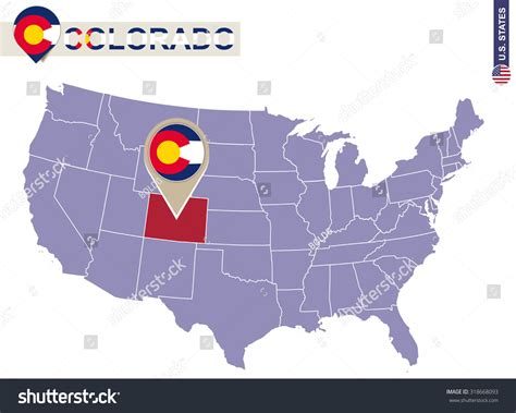colorado in the us map colorado state on usa map colorado flag and map us