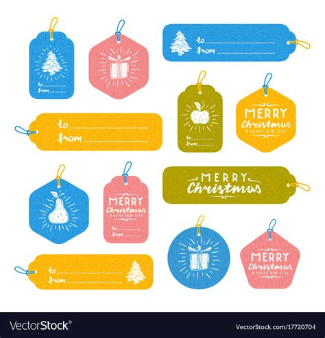 set  merry christmas gift tags royalty  vector image