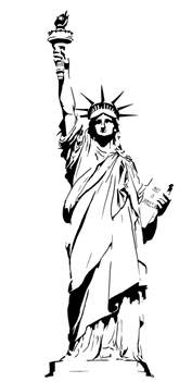 statue of liberty drawing template statue of liberty clip cliparts co