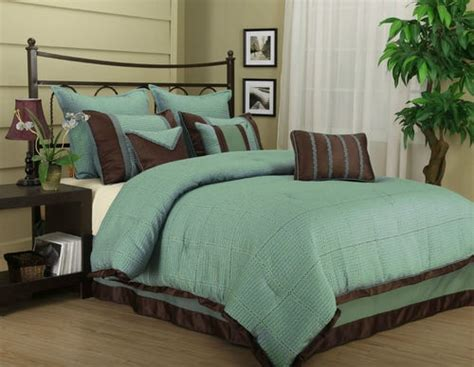 teal and brown bedding tobey 7pc comforter teal brown set bed in a bag king queen