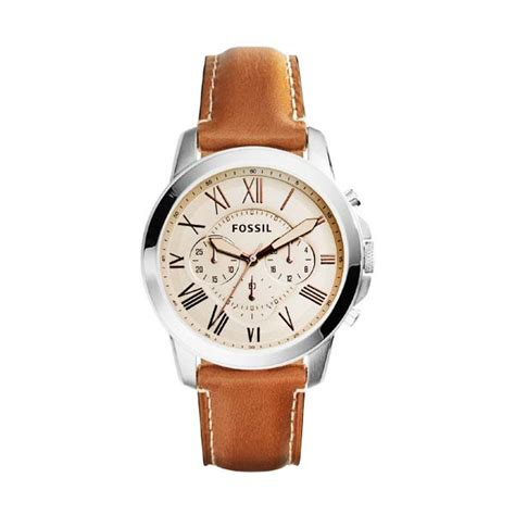 Jam Tangan Pria Jeep Feroz Leather Light Brown Jual Fossil Grant Chronograph Leather Fs5118 Jam Tangan