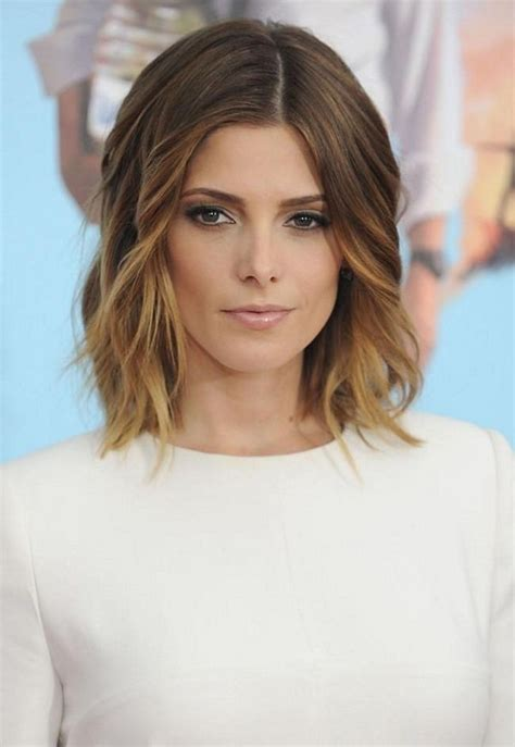lob hairstyle for fine hair ashley greene with beautiful ombre lob 2015 medium