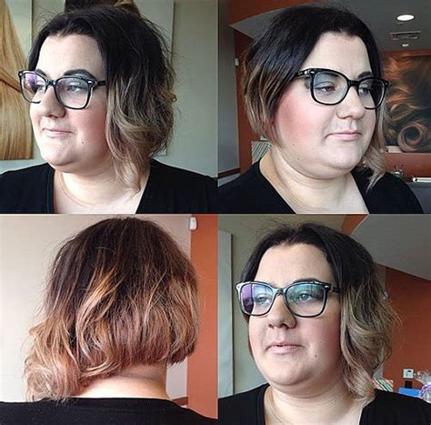 asymmetrical bob with a fat face 20 stylish and sassy bobs for round faces