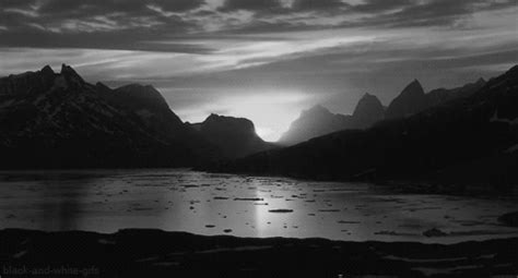 Landscape Gif Black And White Sunset Gif Find On Giphy